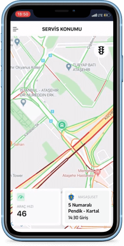 service location tracking screen